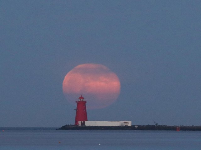 A pink supermoon is set to brighten the night skies over the UK next week. PIC: Brian Lawless/PA Wire