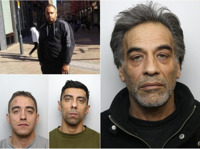 Farooq Ishaq Ahmed (right) was jailed for helping his sons Kearon Barker (bottom left) and Omar Ishaq (bottom centre) to try to flee the country after they murdered Keith Harrower (top left).