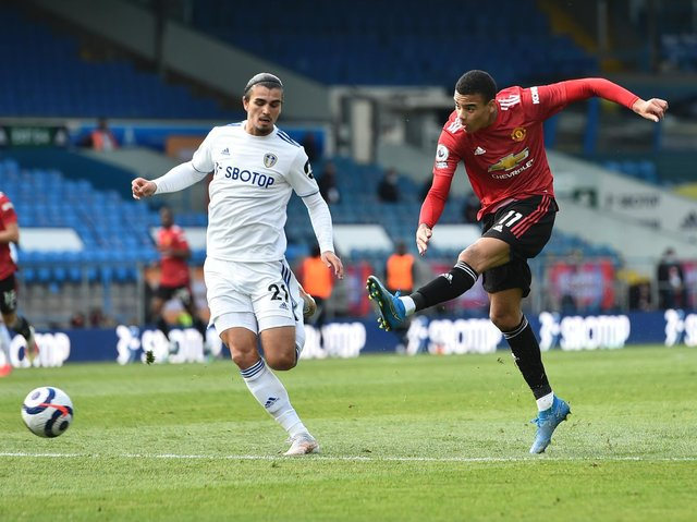 Leeds United defender Pascal Struijk in action against Manchester United. Pic: Getty