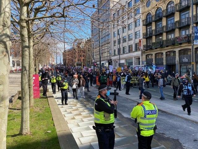 The 'Kill the Bill' protest in Leeds earlier this month.