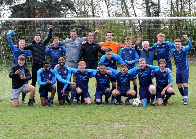 Leeds Combination League Division 1 champions Wykebeck Arms. Picture: Steve Riding.
