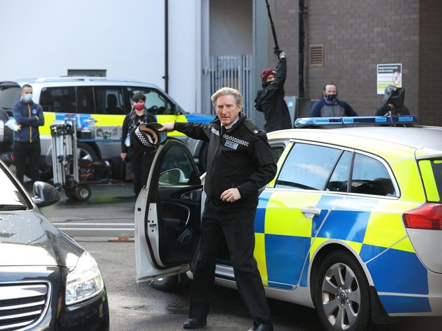 Adrian Dunbar on the set of the sixth series of Line of Duty, which is filmed at Titanic Studios in Belfast (photo: Liam McBurney / PA).