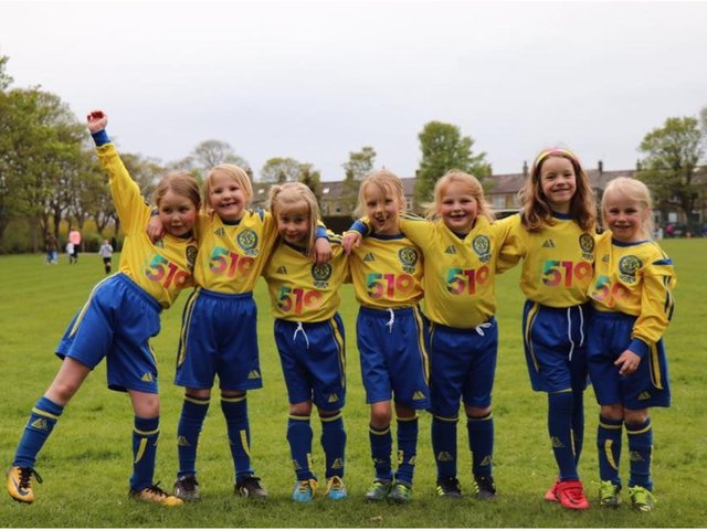 Seven young female footballers who put on their boots in 2017 have formed the foundations of a thriving hub of girls' sport in Calverley in 2021 - with more than 100 turning out every week for the village.