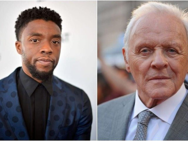 n his acceptance speech, Hopkins (right) said 'I want to pay tribute to Chadwick Boseman, who was taken from us far too early' (Photos: Getty Images)