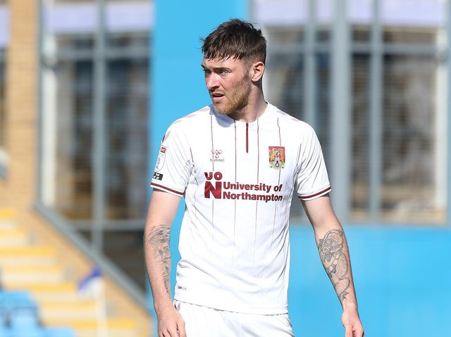 Leeds United loanee Ryan Edmondson in action for Northampton Town. Pic: Getty