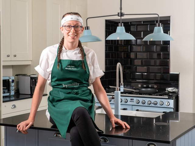 24-year-old Molly Payne, who runs high-end food delivery business ByMolly with her partner Charlotte