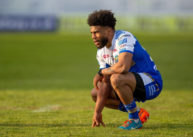 Kyle Eastmond shows his frustration after Leeds Rhinos' defeat to Hull KR. Picture: Bruce Rollinson.