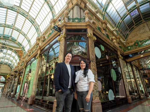 James and Ally Dowsing-Reynolds, both 41, the owners of bespoke home decor business Dowsing and Reynolds
