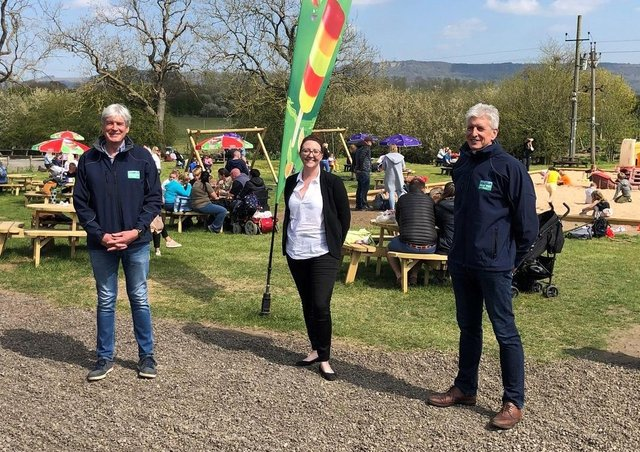 Tim Brierley, left, and Phil Brierley of York Forty Four Ltd are pictured at Monk Park Farm near Thirsk, the business they have bought for £1.85m with advice from property lawyer Yasmin Fenton of Andrew Jackson Solicitors.