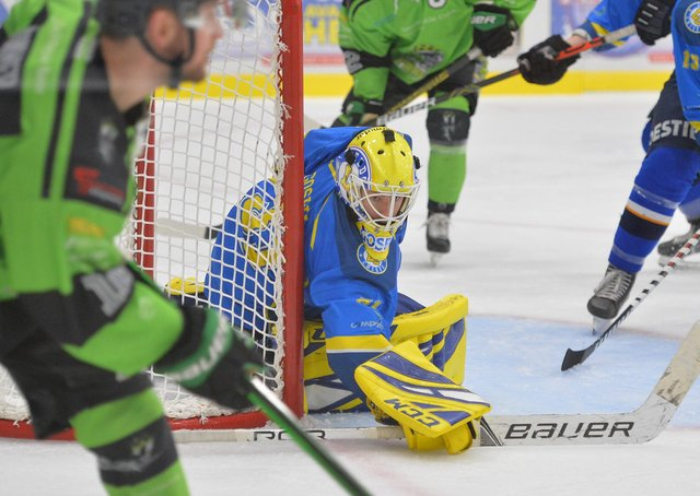 WELCOME BACK: Sam Gospel has agreed to return in net for Leeds' NIHL National team for the 2021-22 campaign. Picture: Dean Woolley.