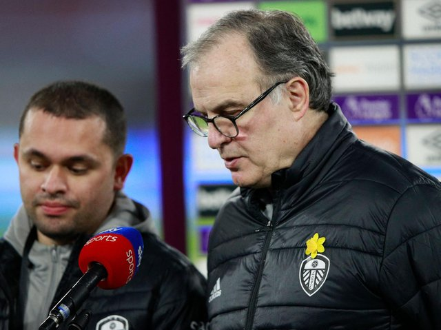 Leeds United head coach Marcelo Bielsa. Pic: Getty