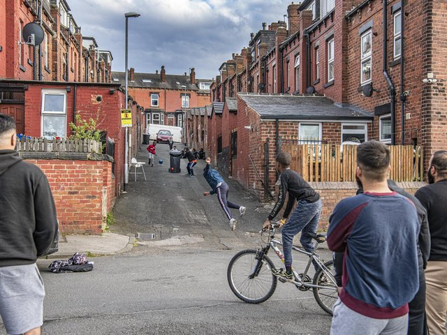 YEP photographer Tony Johnson's shot captures a street cricket match in Harehills in full swing