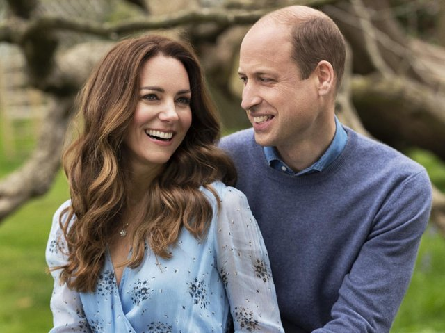 Handout photo of The Duke and Duchess of Cambridge taken at Kensington Palace this week to mark their 10th wedding anniversary (Photo: Chris Floyd/Camera Press)