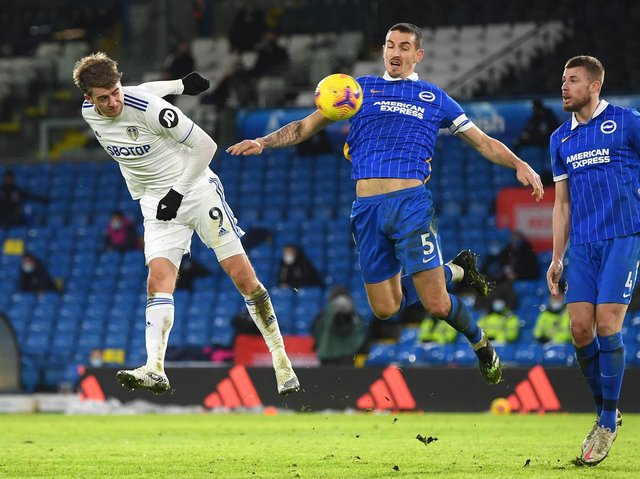 KEY BATTLE - Leeds United striker Patrick Bamford will want to get back on the goal trail and his individual duel with Lewis Dunk of Brighton will be important. Pic: Getty
