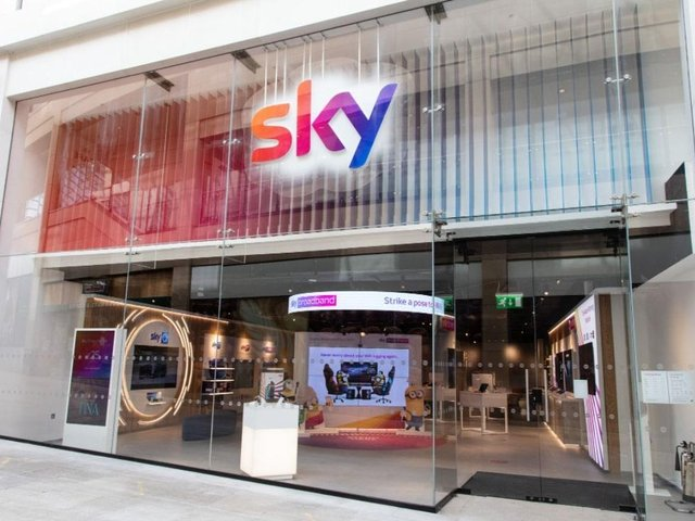 The new Sky store at Trinity Leeds