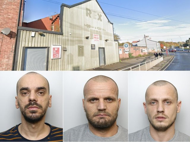 Three men have been jailed at Leeds Crown Court over a cannabis farm worth more than £300,000 at the former Rex Snooker Club, Stanley Road, Wakefield.