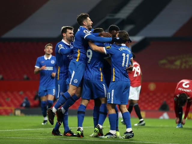 Brighton & Hove Albion celebrate. Pic: Getty