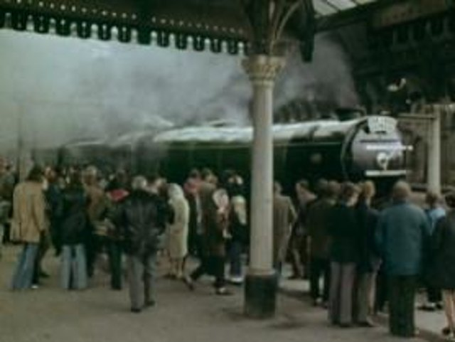 The BBC footage of the famous steam engine heading from York to Scarborough was first broadcast in April 1974.