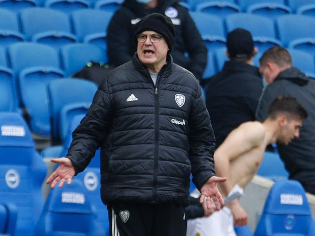 FOUR GAMES LEFT: For Leeds United and head coach Marcelo Bielsa in the current Premier League campaign. Photo by JOHN SIBLEY/POOL/AFP via Getty Images.