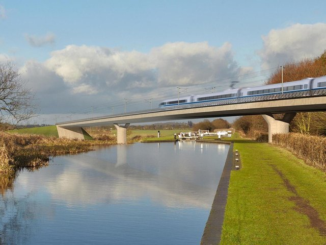 The HS2 eastern spur is intended to link Leeds to Birmingham and London. Picture: HS2/PA Wire.