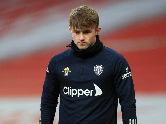 RECOVERING: Leeds United youngster Joe Gelhardt. Photo by Adam Davy - Pool/Getty Images.