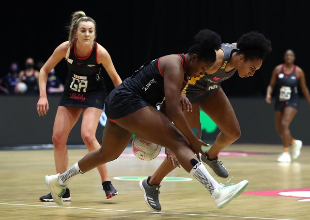 Influential: Leeds Rhinos' Vicki Oyesola, right, impressed against Wasps. (Photo by Jan Kruger/Getty Images for Vitality Netball Superleague)
