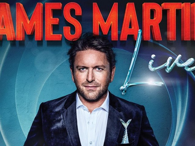 James Martin live is coming to Harrogate.