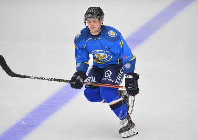 BACK FOR MORE: Lewis Baldwin was one of Leeds Chiefs' top performers in their debut NIHL National campaign. Picture: Dean Woolley.