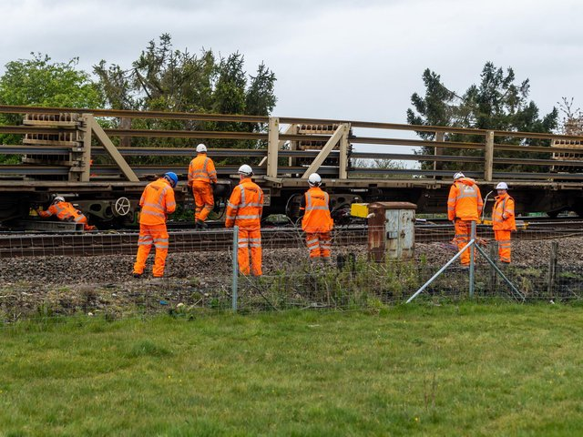 Network Rail workers have been on site since the early hours to inspect the damage caused and establish a plan that removes the derailed train wagons, repairs the damage and gets passenger services back to normal as quickly and safely as possible.