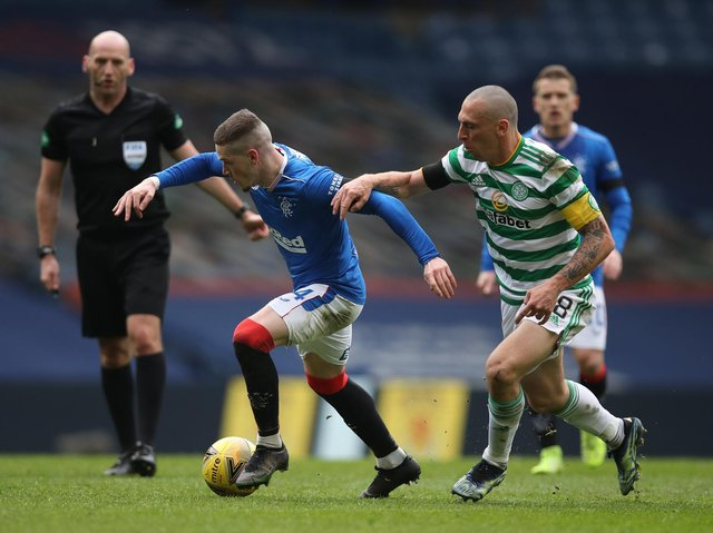STAR MAN - Leeds United summer 2020 target Ryan Kent gave Scott Brown and Celtic a hard time in Rangers' win at the weekend. Pic: Getty