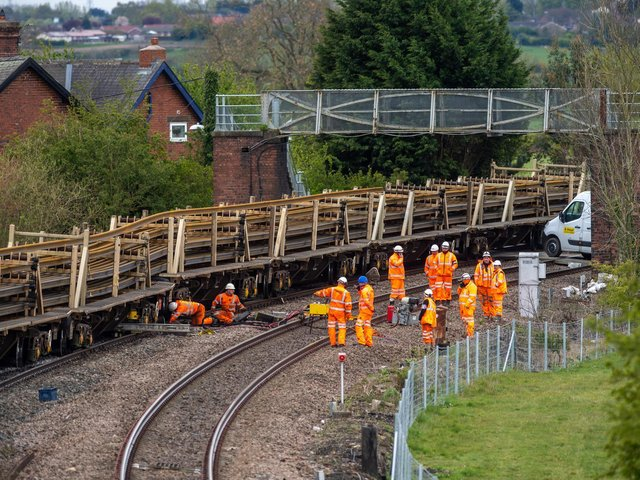 Engineers worked through the night after a derailment at Church Fenton caused chaos on the train network yesterday.