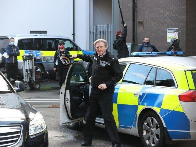 Adrian Dunbar on the set of the sixth series of Line of Duty. (photo: Liam McBurney / PA).
