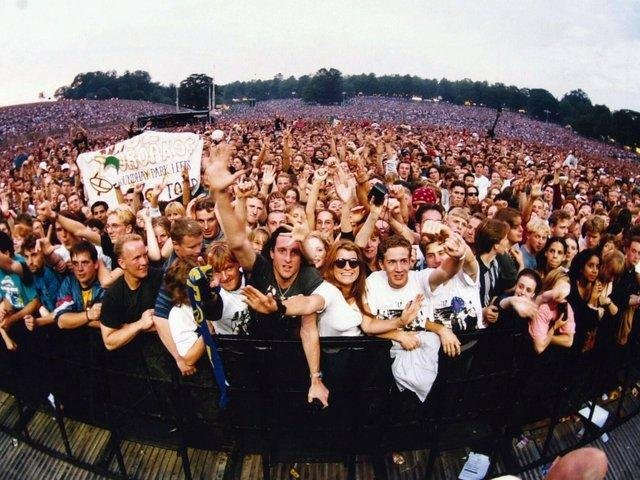 Dr Peter Mills of Leeds Beckett University explores Roundhay Park's part in live music through personal recollections, photos and objects including gig tickets and programmes in a talk this week (photo: U2 in 1993)
