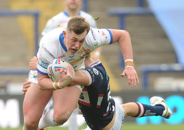 Leeds Rhinos young star Jack Broadbent considered becoming a referee before his career as a player took off. Picture: Steve Riding.