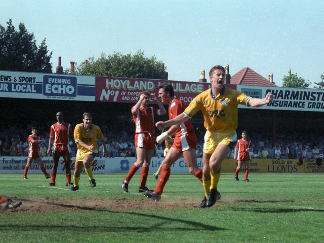BIG MOMENT - Lee Chapman's goal at Bournemouth sealed Leeds United's 1990 Second Division title and promotion to the top flight.