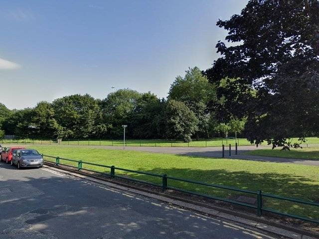 Police were called to a wooded area in Holbeck Park to reports of a sexual assault. photo: Google.