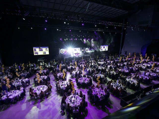 The glittering ceremony at last year's Leeds Sports Awards.