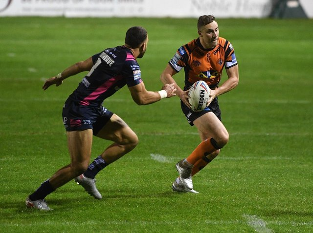James Clare, right, is included in Tigers' 21-man squad for the first time this year. Picture by Jonathan Gawthorpe.