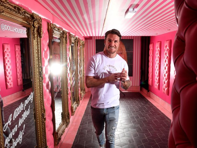 Zanetti in his award-winning Leeds bar, Dollhouse, which he opened in 2019