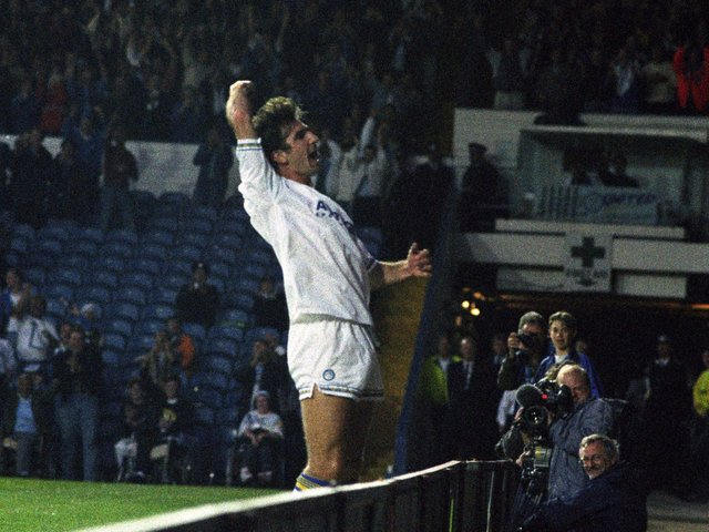 Enjoy these photo memories from Leeds United's 5-0 demolition of Spurs in August 1992 which featured the first hat-trick of the new Permier League era