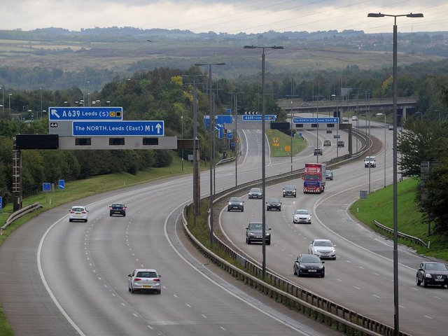 There is currently a full close in place on the M1 at Garforth after a crash. Stock photo of M1 for illustrative purposes only.