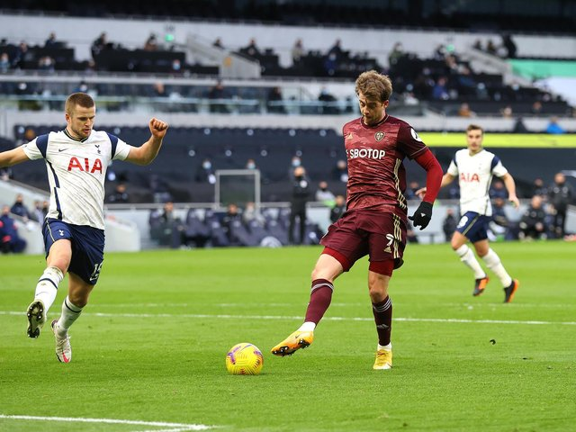 SECOND TRY: For Leeds United and striker Patrick Bamford, right, against Tottenham Hotspur in this Saturday's lunch time kick-off at Elland Road. Photo by Julian Finney/Getty Images.