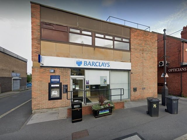 The Barclays bank branch in Main Street, Garforth has closed.