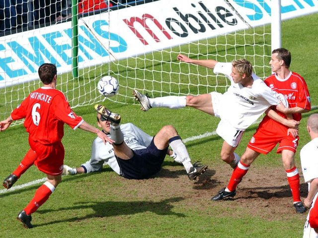 Enjoy these photo memories from Leeds United's 1-0 win against Middlesbrough in May 2002. PICS: Varley Picture Agency