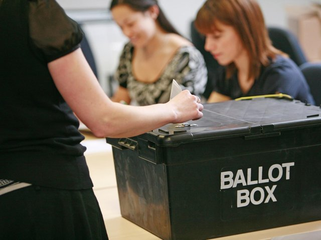 Votes from a ballot box being counted.