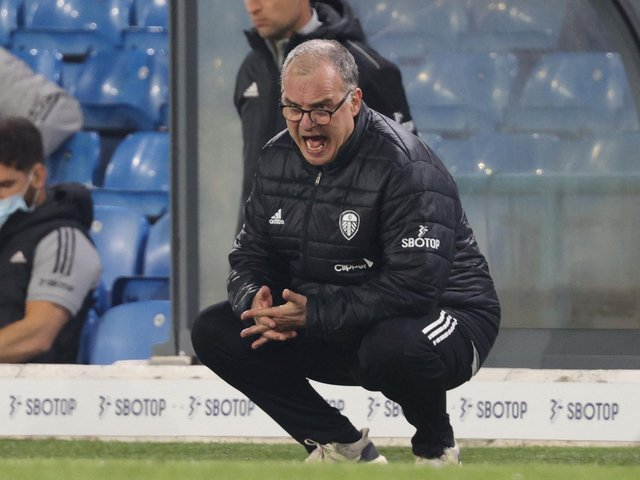 PASSION AND PRIDE: From Leeds United head coach Marcelo Bielsa. Photo by CLIVE BRUNSKILL/POOL/AFP via Getty Images.