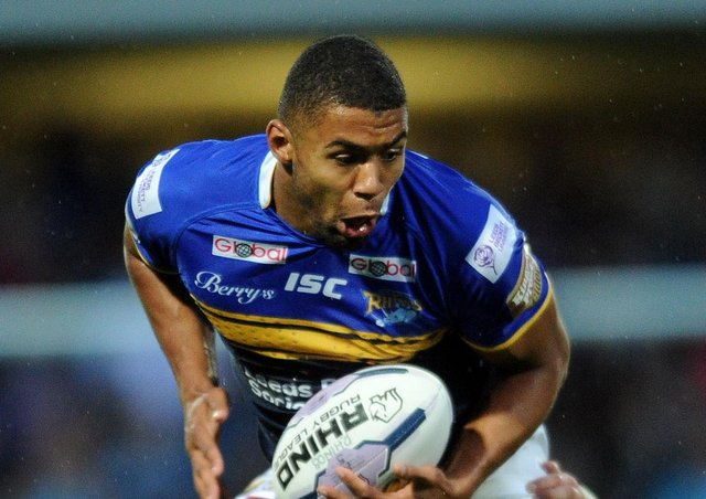 DOUBLE: Kallum Watkins scored a brace against Widnes in May 2015. Picture: Jonathan Gawthorpe.