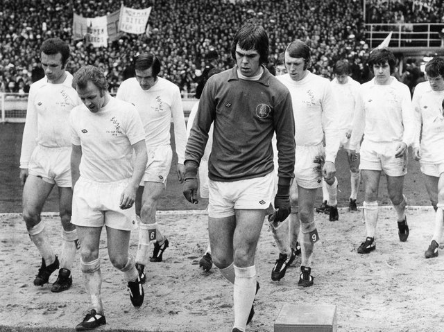PERFECT RESPONSE: Peter Lorimer bagged a hat-trick as Leeds United thumped Arsenal 6-1 in their final league game just four days after defeat in the 1973 FA Cup final to Sunderland at Wembley, above. Picture by Varleys.