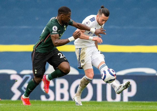 QUALITY DISPLAY: Jack Harrison gets the better of Serge Aurier. Picture: Bruce Rollinson.