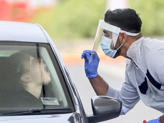 A person is tested for coronavirus (photo: PA Wire)